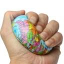 新品 送料無料 固め地球儀スクイシーボール 地球 スクーズボール 約10cm おもちゃ スクイーズ 握る ストレス解消 手が寂しい もちもち ..