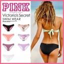 【希少!大人気!レディース スイムウェア】 Victoria's Secret (ヴィクトリアズ・シークレット) PINK RUCHED MINI BIKINI BOTTOM ウィメ..