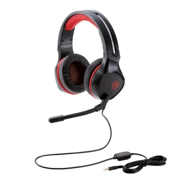 [ポイント10倍][ELECOM(エレコム)] ゲーミングヘッドセット/両耳オーバーヘッド/4極ミニプラグ/50mmドライバ/極厚イヤーパッド/コントローラ付属/ブラックHS-G01BK / hsg01bk