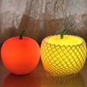 【ふるさと納税】アップルライト(赤・黄)2個セット【LEDラ