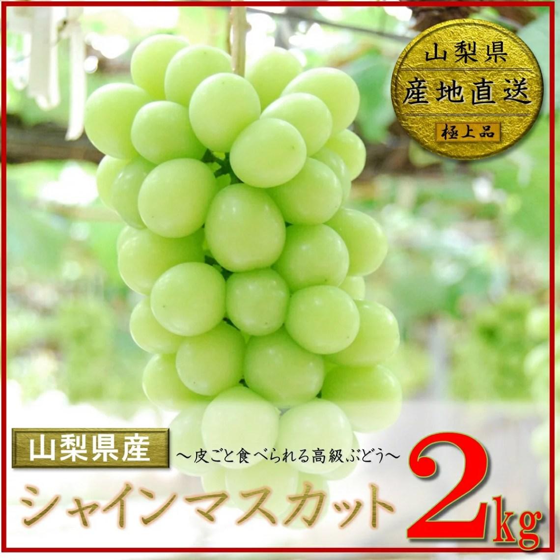 【ふるさと納税】 山梨県産 シャインマスカット 3〜4房 (約2kg) フルーツ ブドウ 高級 朝採