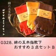 【ふるさと納税】0328.綿の五本指靴下おすすめ3点セットB