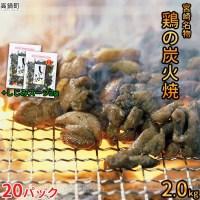 【ふるさと納税】<宮崎名物鶏の炭火焼100g×20袋セット+