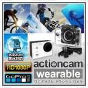 アクションカメラ ウェアラブルカメラ mc-ac003 FHD1080P 30m防水