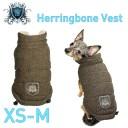 【HIP DOGGIE】Herringbone Vest XS-M 犬 服 小型 子犬 中型 おしゃれ かわいい 防寒 暖かい 裏起毛 ジャケット モコモコ 秋 冬 5HRBV