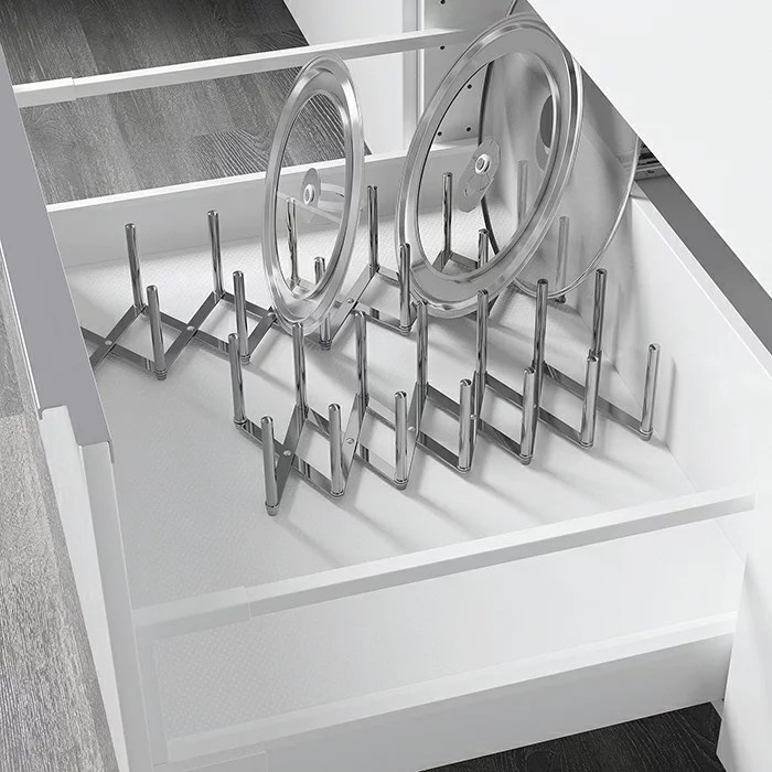 【IKEA / イケア】 VARIERA ヴァリエラ 鍋ぶたオーガナイザー ステンレススチール キッ