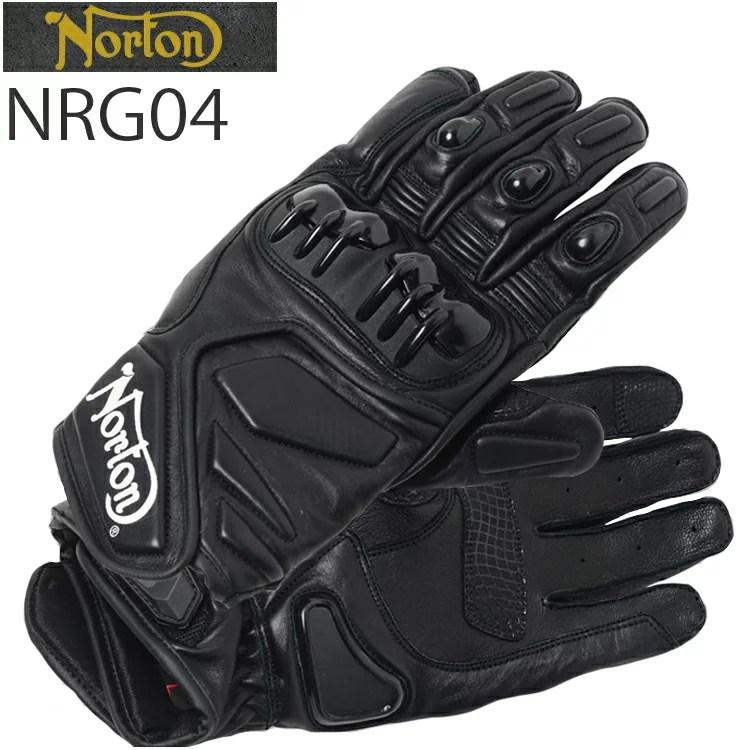 NORTON ノートン グローブ NRG04 ホワイトロゴ