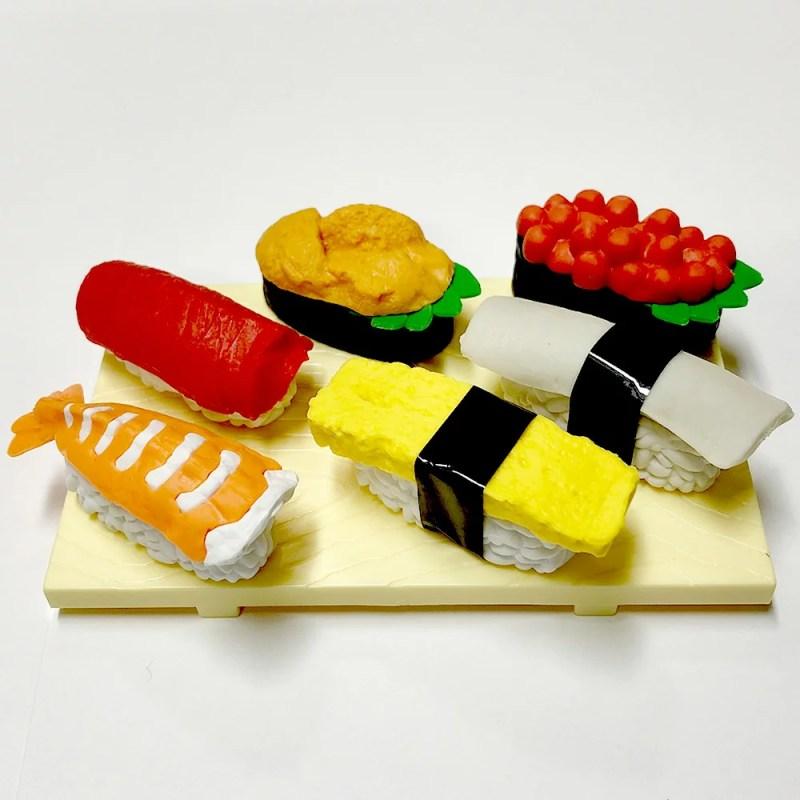 お寿司の消しゴム おみやげセット寿司消しゴム 寿司フィギア フィギュア消しゴム 日本のおみやげ 外国