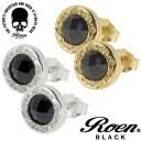ロエン Roen BLACK 円形 カットブラックジルコニア