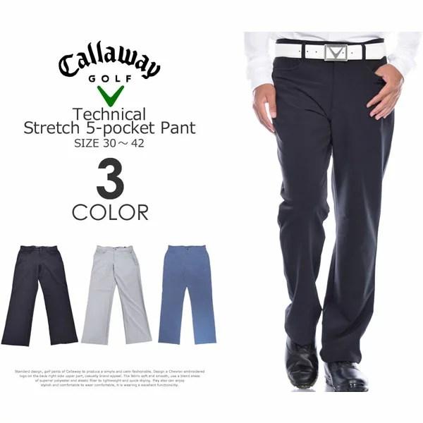 (福袋対象商品)キャロウェイ Callaway  ゴルフパンツ メンズ テクニカル ストレッチ 5ポケット パンツ 大きいサイズ USA直輸入 あす楽対応