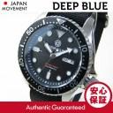 DEEP BLUE (ディープブルー) NATO DIVER 300m防水 AUTOMATIC/オートマチック SEIKO 自動巻きムーブメント ブラック ダイバーズウォッ..