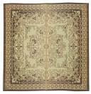 【クラシック柄】い草ラグ カーペット 裏貼有「カノン」 ブラウン 大判サイズあり 約176×176cm