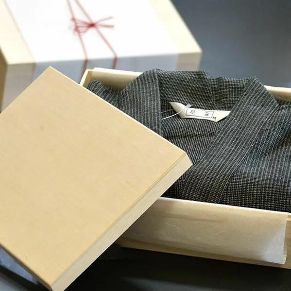 甚平 しじら織り 木箱 入り プレゼント 実用的 父の日ギフト 父の日 甚平 誕生日 メンズ パジャ