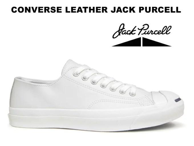 コンバース レザー ジャックパーセル CONVERSE JACK PURCELL LEATHER ホワイト レディース