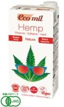 プレマ EcoMil 有機ヘンプミルク ストレート(無糖) 1000ml 6個セット【有機JAS認定】【送料無料】