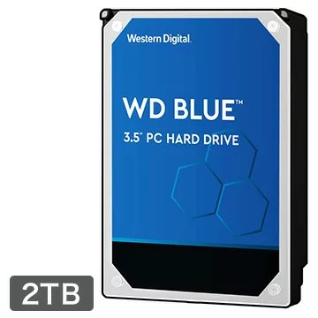 WESTERNDIGITAL 内蔵ハードディスク PC用途向け 2TB 3.5インチ Blue 2年保証 WD20EZAZ