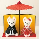 和装のウェルカムドッグ完成品【ウェルカムドール ウェディングドッグ 和風 着物 和服 犬】