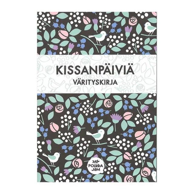 大人塗り絵 (KISSANPAIVIA 猫の毎日)【北欧雑貨】