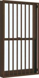 YKKAP窓サッシ 装飾窓 フレミングJ[Low-E複層防音ガラス] 面格子付片上げ下げ窓 たて格子[Low-E透明5mm+透明3mm]:[幅640mm×高1170mm]