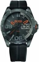 【送料無料】腕時計 ウォッチメンズヒューゴボスベルリンブラックシリコンストラップウォッチ