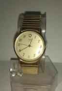 【送料無料】マンゴールドトーンヴィンテージクォーツvintage 1970s timex q m cella orologio al quarzo da uomo gold tone