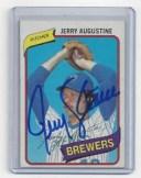 【送料無料】スポーツ メモリアル カード ブリュワーズジェリーオーガスティンカード#サイン1980 brewers jerry augustine signed ..