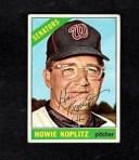 【送料無料】スポーツ メモリアル カード ビンテージワシントンサインカード1966 topps vintage howie koplitzwashington senators ..