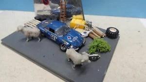 【送料無料】模型車 モデルカー スポーツカー ルノーデグランジrenault apline a110 sortie de grange 143