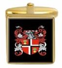 【送料無料】メンズアクセサリ— スコットランドカフスボタンボックスコートhays scotland family crest surname coat of arms gold cu..