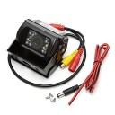 バックモニター用車載カメラ IP67防水仕様 ガイドライン表示機能 LED18灯 赤外線暗視機能 12V/24V対応 BK700