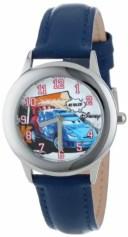 ディズニー 腕時計 キッズ 時計 子供用 カーズ2 ラウール・サルール Disney Kids' W001009 Tween Cars Stainless Steel Blue Leather S..