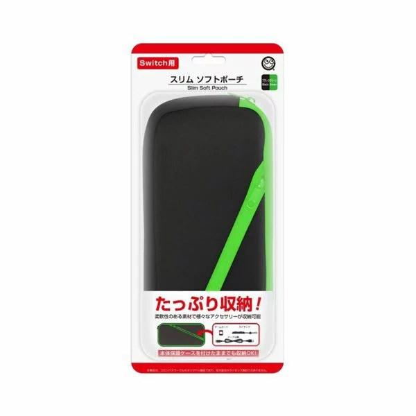 (まとめ) コロンバスサークル スリムソフトポーチ(ブラックグリーン) CC-NSSSP-BG 【×5セット】 送料込!