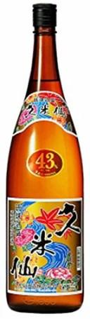 沖縄県 久米仙酒造 43゜久米仙 泡盛 1800ml 1.8L×1本 ギフト 父親 誕生日 プレゼント