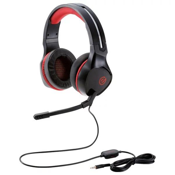 HS-G01BK エレコム ゲーミングヘッドセット 両耳オーバーヘッド 4極ミニプラグ 50mmドライバ 極厚イヤーパッド コントローラ付属(ブラック)
