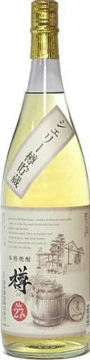 茨城県 萩原酒造 シェリ-樽熟成 米(粕取り)焼酎 27度 1800ml