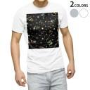 tシャツ メンズ 半袖 ホワイト グレー デザイン XS S M L XL 2XL Tシャツ ティーシャツ T shirt 001276 キラキラ クラッカー 星