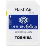 64GB SDXCカード SDカード TOSHIBA 東芝 第4世代FlashAir W-04 無線LAN搭載 UHS-1 U3 R:90MB/s W:70MB/s 海外リテール THN-NW04W0640C6 ◆メ