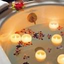 バレンタイン Bath Candle ぷかぷかバスキャンドル  5色セット アロマキャンドル おしゃれプレゼント お風呂 癒し フロートキャンドル
