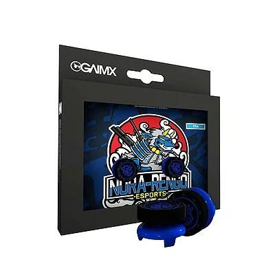 GAIMX RAISX PS4 PS5 野良連合限定モデル ブラックブルー※パッケージはPS4ですが、PS5でも使えます。CURBXと併用可 アナログキャップ 黒×青 FPS【メール便のみ送料無料】Playstation 4 PS4エイム力を向上 RAISXはエイムリングと併用可能