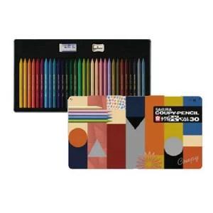 【送料無料!】【メール便】サクラクレパス クーピー30カラーオンカラー缶 FY30NU折れにくい、消しやすい、削れる全部が芯の色鉛筆!