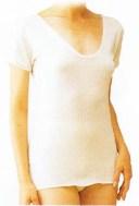 シルクノイル肌着・婦人3分袖スリーマー/オフホワイト L【05P03Dec16】