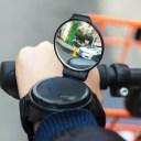 自転車用アームミラー バックミラー 軽量 バイクミラー スポーツミラー 手首装着式 広角 360度回転自由 両面ファスナー固定 コンパクトミラー LST-BHMIR37G