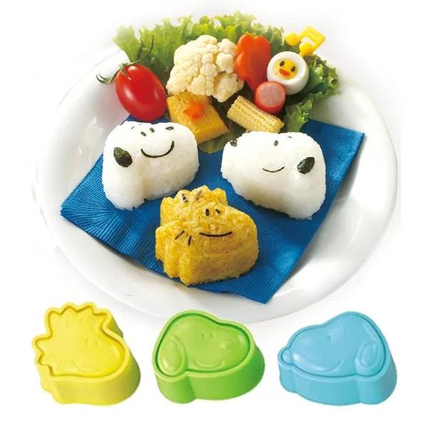 おにぎり押し型 スヌーピー おにぎり抜き型 キャラ弁 日本製 キャラクター ( お弁当グッズ ご飯押