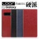 LOOF Solid Galaxy S10 ケース S10+ 手帳型 カバー A20 手帳型カバー S9 手帳ケース A7 A30 SCV43 ギャラクシー スマホケース SC-03L S..