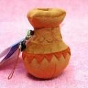 弥生時代の道具 つぼ土器携帯ストラップ 笛入り サイズ:9cm