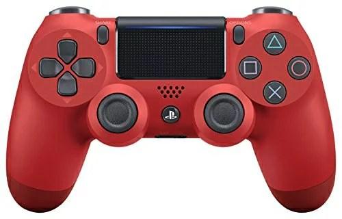 【即納可能】【新品】【PS4】ワイヤレスコントローラー(DUALSHOCK4) マグマ・レッド Ne
