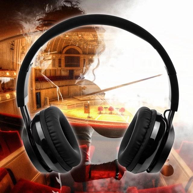 AGPtek 新モデル*Bluetooth 4.0ワイヤレス 折りたたみステレオヘッドホンヘッドフォン ヘッドセット