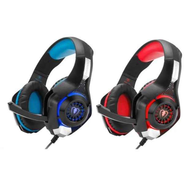 Beexcellent ゲーミングヘッドセット ヘッドフォン ゲーム ヘッドセット ゲーム用 ノイズキャンセリング機能 騒音抑制 PS4 マイク付