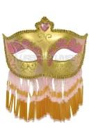 Soiree Spectaculaire マスク (Pink Gold) コスチューム クリスマス ハロウィン コスプレ 衣装 仮装 面白い ウィッグ かつら マスク 仮..