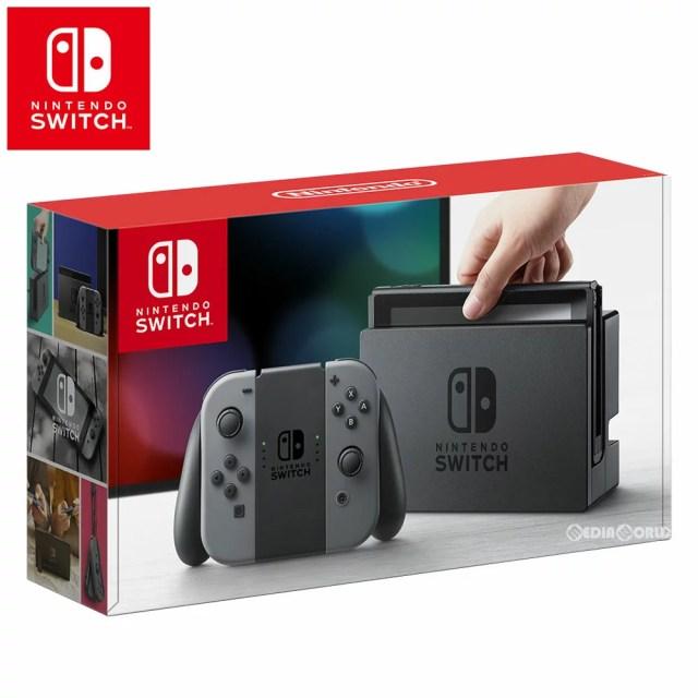 【中古】[本体][Switch]Nintendo Switch(ニンテンドースイッチ) Joy-Con(L)/(R) グレー(HAC-S-KAAAA)(20170303)